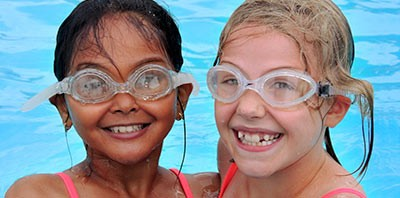 Level 3 Swim Swimming Lesson Lessons group sessions session indoor pool heated elementary school child children aqua aquatic  hydro water pool photo girls class goggles